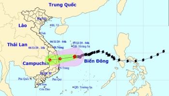 Bão số 10 sẽ suy yếu thành áp thấp nhiệt đới trên vùng biển Quảng Ngãi - Phú Yên