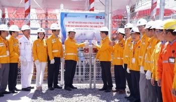 Lễ đón nhận dòng khí đầu tiên từ Mỏ Sao Vàng - Đại Nguyệt đến đường ống Nam Côn Sơn 2