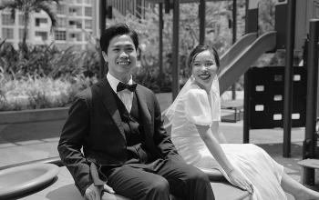 Ảnh cưới hiếm hoi của Công Phượng - Viên Minh