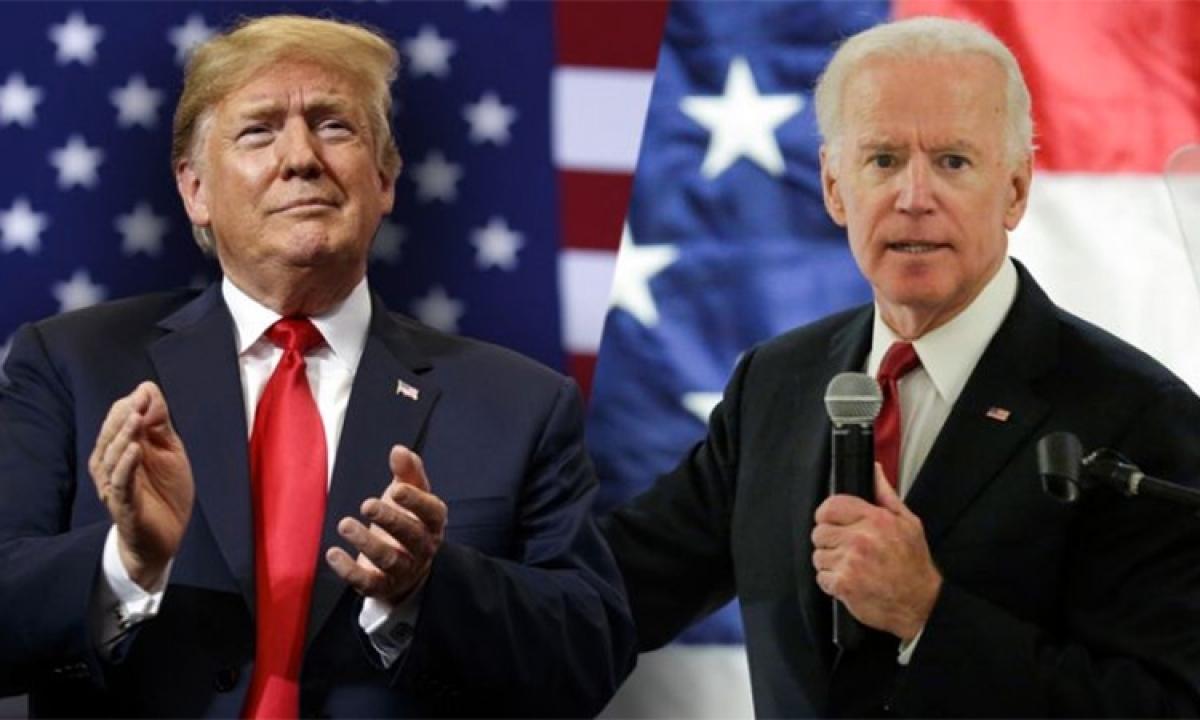 Tổng thống Trump và ông Biden. Ảnh: Gulf Today