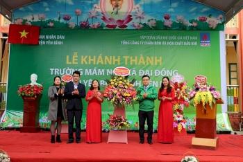 PVFCCo khánh thành công trình Trường mầm non xã Đại Đồng