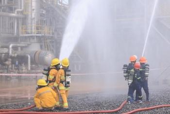 Diễn tập phương án chữa cháy và cứu nạn cứu hộ tại Nhà máy Đạm Phú Mỹ