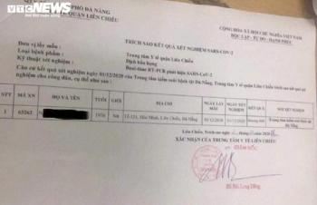 Sửa kết quả xét nghiệm SARS-CoV-2, nữ điều dưỡng ở Đà Nẵng bị kỷ luật