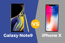 galaxy note9 do thong so voi iphone x