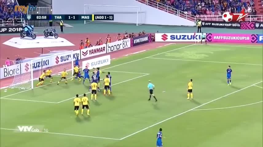 Highlights AFF Cup: Thái Lan 2-2 Malaysia