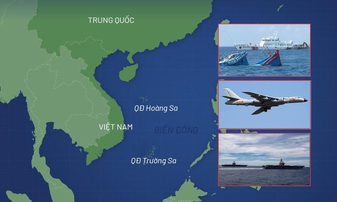Những diễn biến ở Biển Đông 5 tháng qua