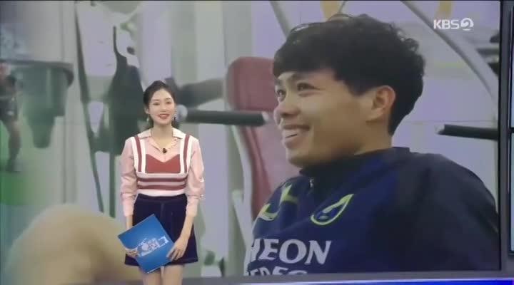 Công Phượng trong chương trình đặc biệt của đài KBS (Hàn Quốc)