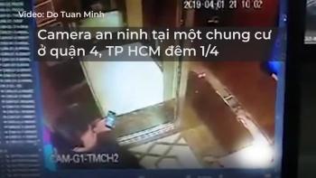 Gã đàn ông ôm hôn bé gái trong thang máy chung cư