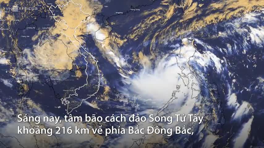 Sức gió bão Molave gần đạt cấp thảm họa