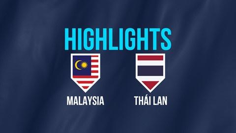 Highlights AFF Cup: Malaysia 0-0 Thái Lan