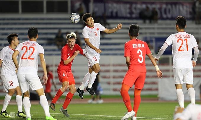 Đức Chinh ghi bàn mở tỷ số cho U22 Việt Nam