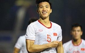 Hoàng Đức đá phạt siêu đẳng, Văn Hậu ghi bàn thứ 2 hạ gục U22 Indonesia
