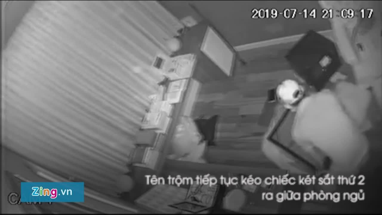Toàn cảnh tên trộm phá 2 két sắt trong biệt thự ca sĩ Nhật Kim Anh