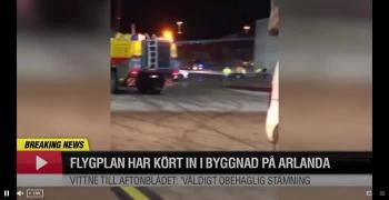 Máy bay Ấn Độ va vào tòa nhà ở Thụy Điển